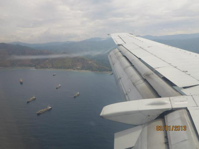 Flight to East Timor