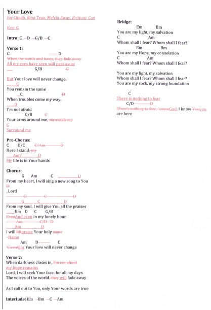 Your love Lyrics